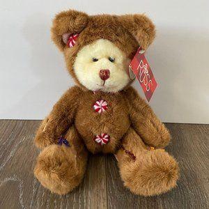 Russ Berrie Cookie Teddy Bear Plush Stuffed Animal